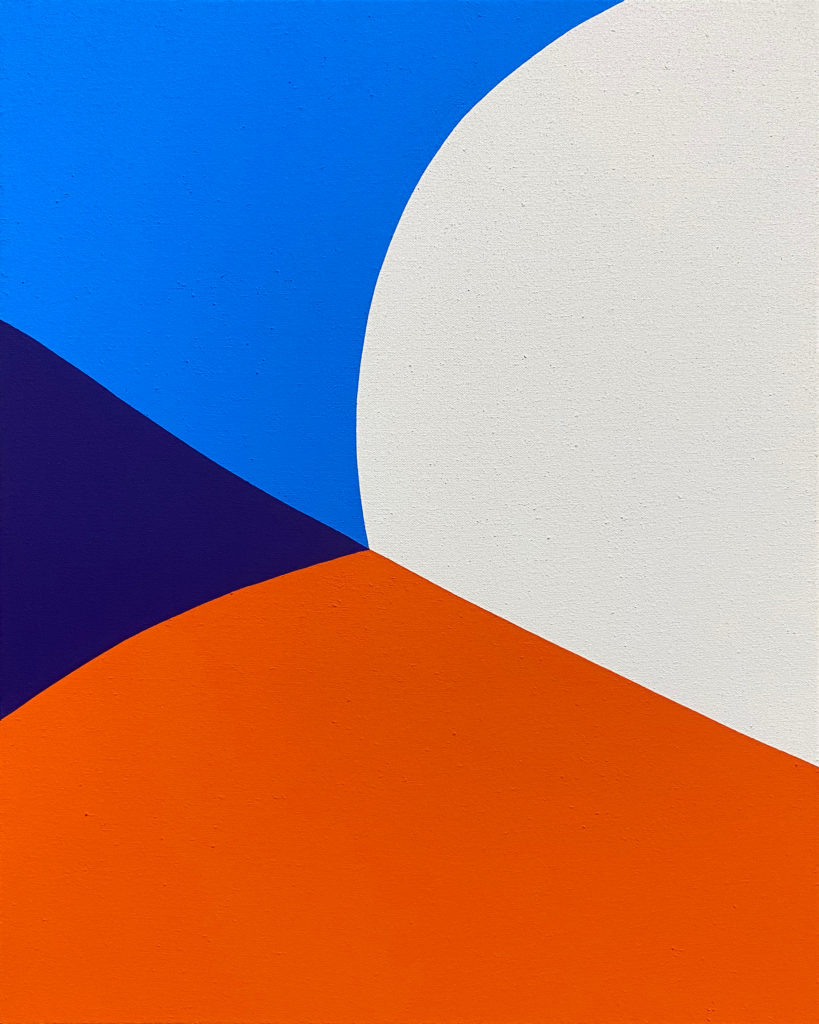 Paul Kremer Fold 2, 2020, acrylic on canvas