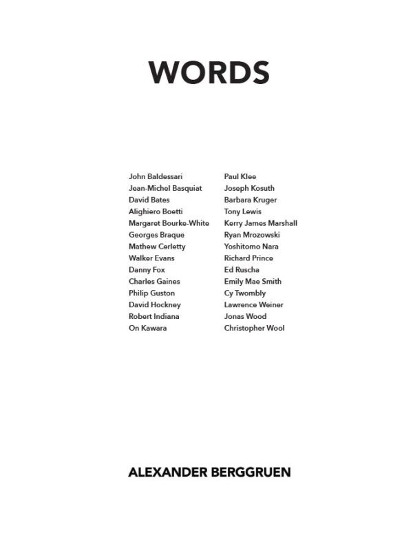 Back of Words Catalogue