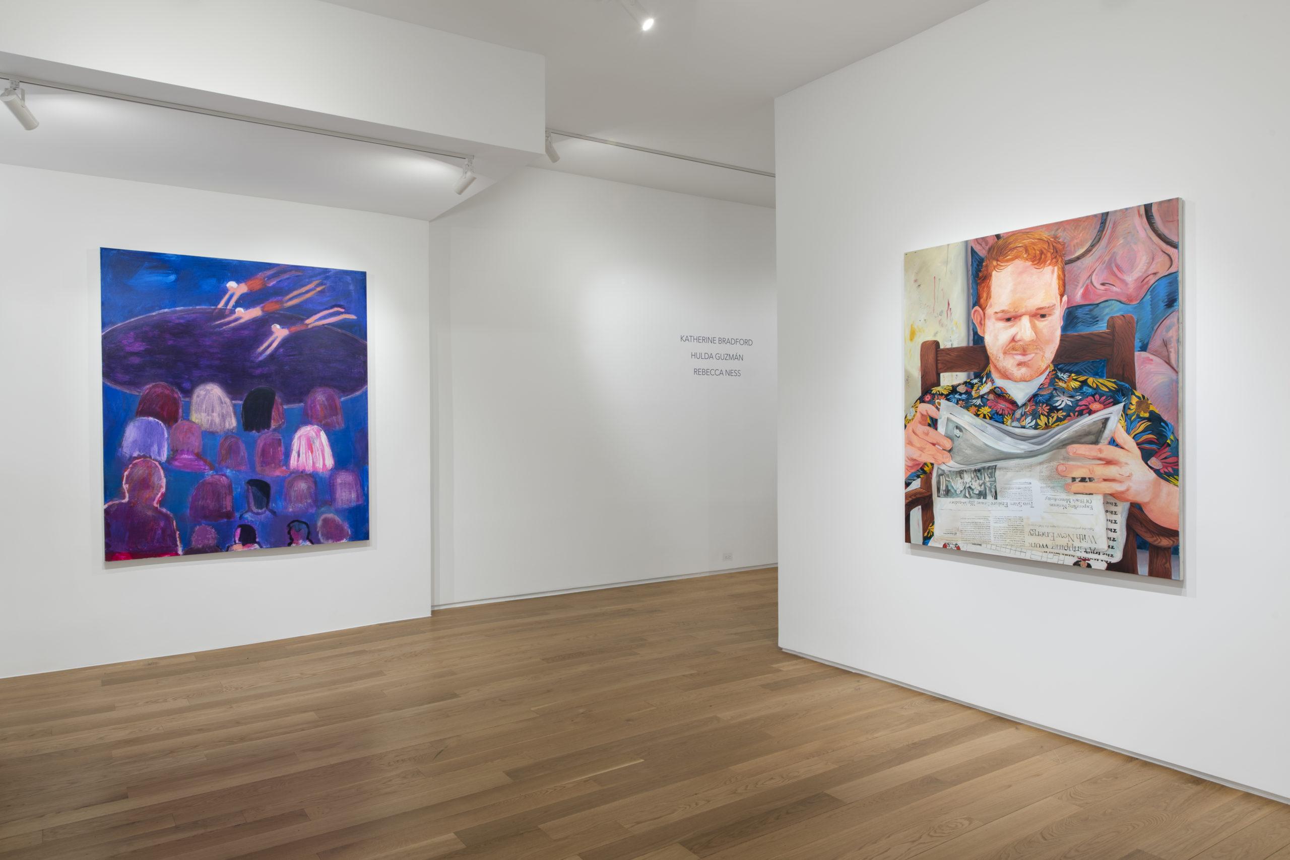 Katherine Bradford Rebecca Ness Installation Paintings
