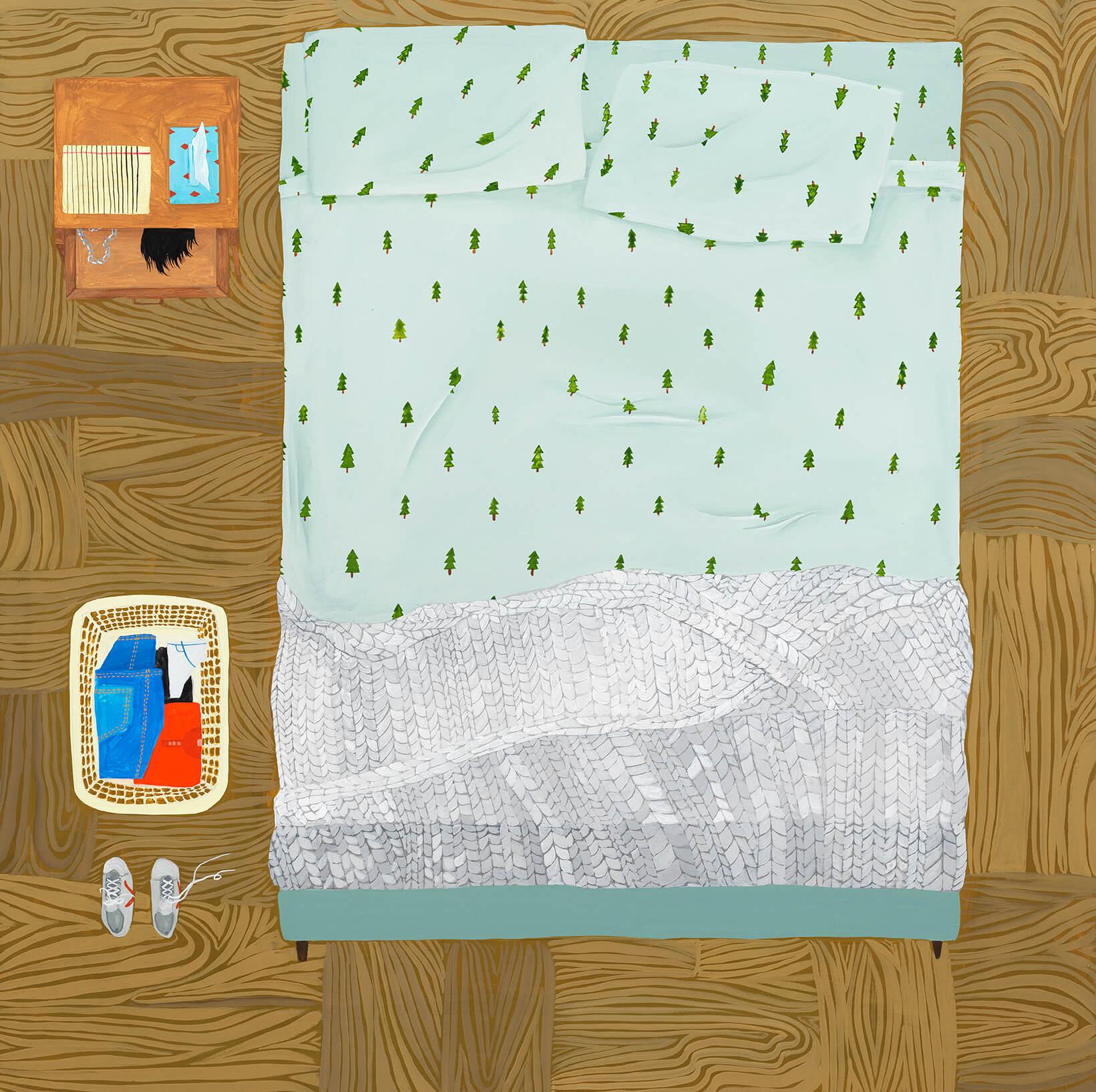 Anne Buckwalter Evergreens, 2019 gouache on panel 24 x 24 in. (61 x 61 cm.)