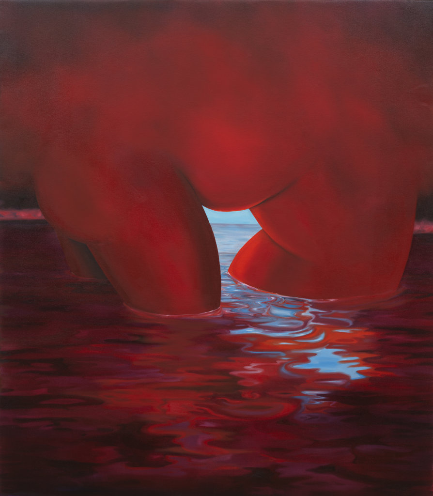 Brittney Leeanne Williams A Red Baptism and a Red Drowning, 2019 oil on canvas 58 x 50 in. (147.3 x 127 cm.)