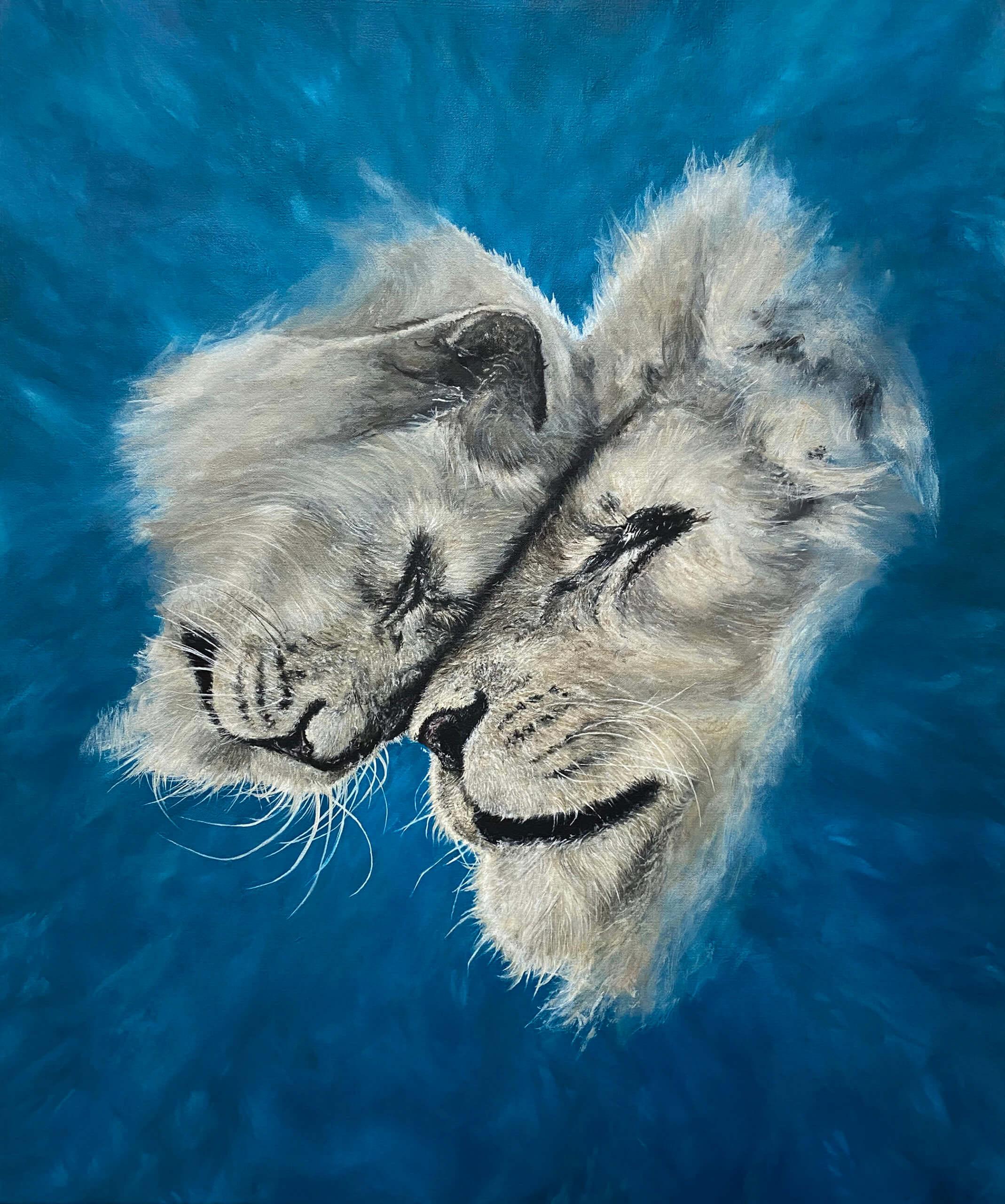 Brendan Lynch Love Cats (the cure), 2020 oil on canvas 30 x 25 in. (76.2 x 63.5 cm.)