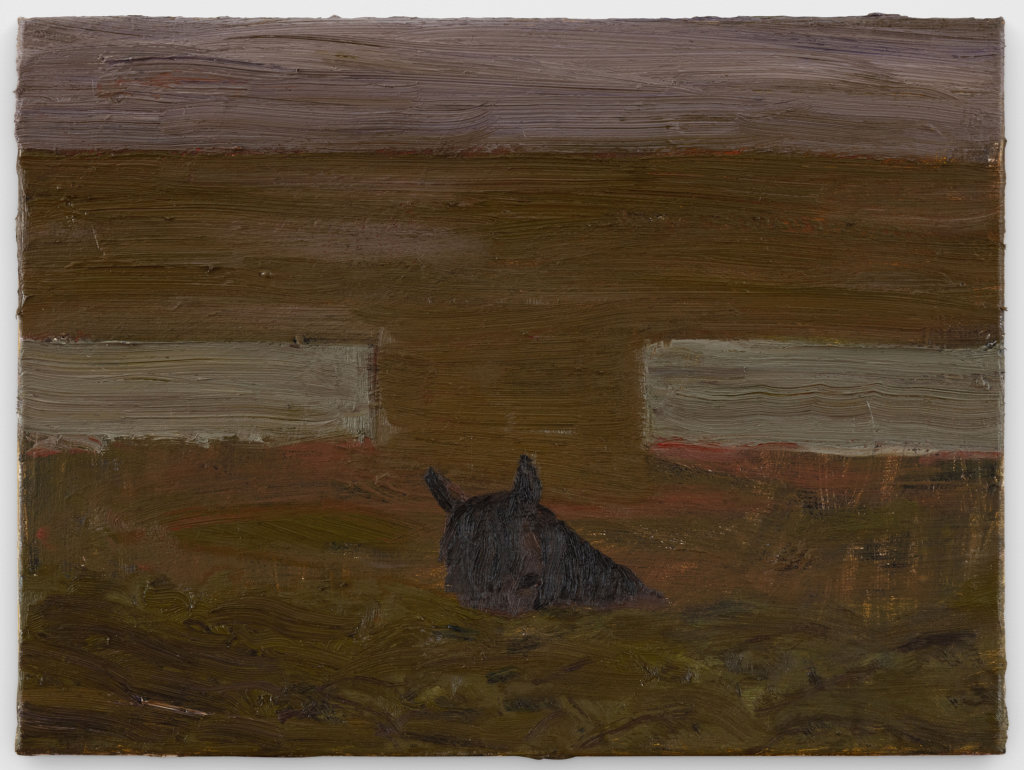 Danny Fox Towednack burial, 2020 oil on canvas 12 x 16 in. (30.5 x 40.6 cm.)