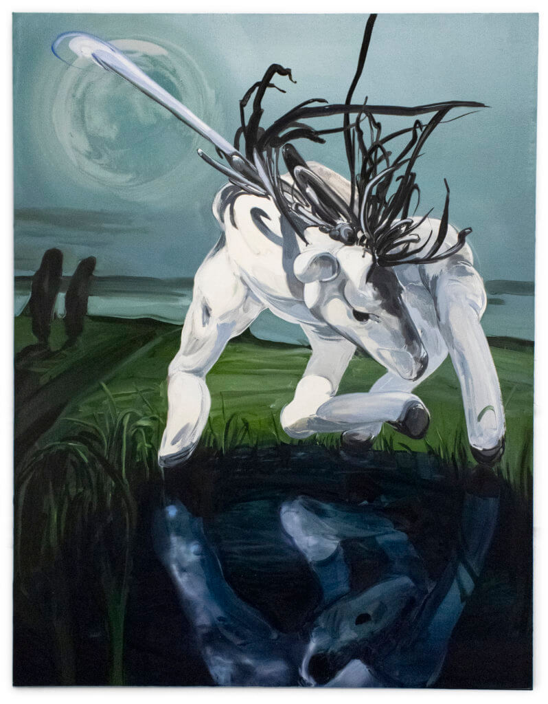 Emma Webster Narcissus, 2020 Oil on linen 62 x 48 in. (158 x 122 cm.)