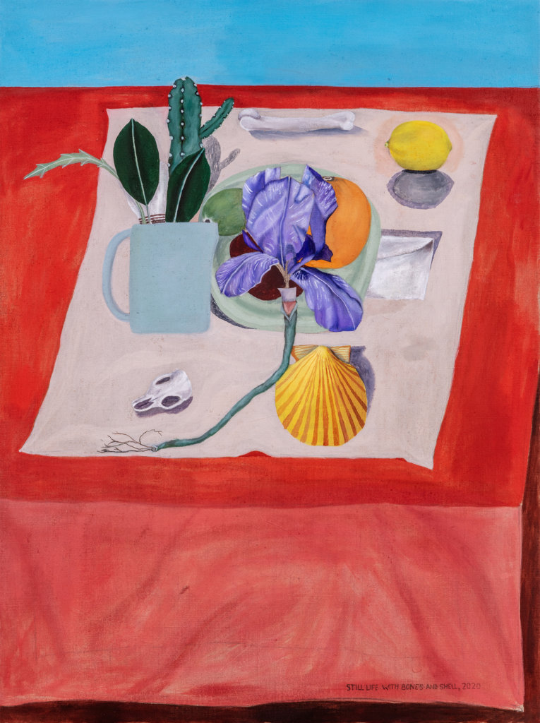 Michael Hilsman Still Life With Bones and Shells, 2020 oil on linen 32 x 24 in. (81.2 x 60.9 cm.)