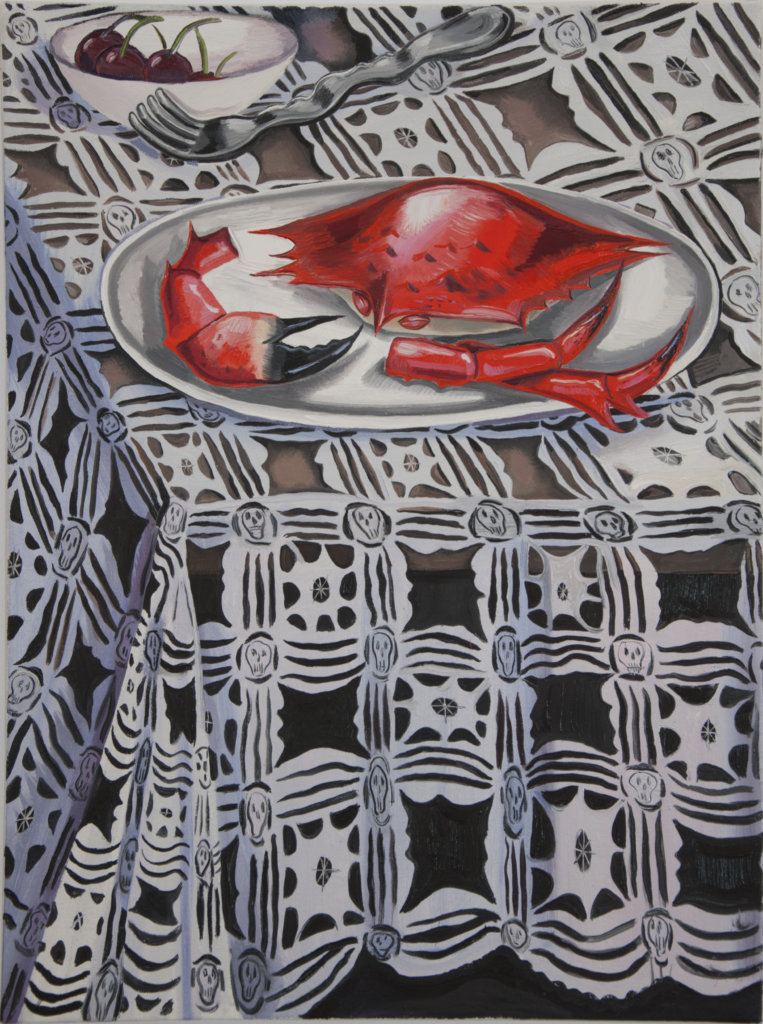 Nikki Maloof Crab Vanitas, 2020 oil on linen 24 x 18 in. (61 x 45.7 cm.)