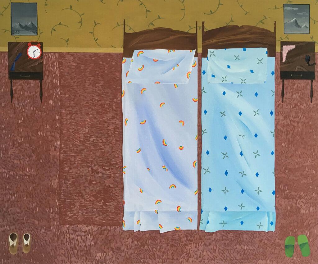 Anne Buckwalter Closer, 2020 gouache on cradled birch panel 20 x 24 in. (50.8 x 61 cm.)
