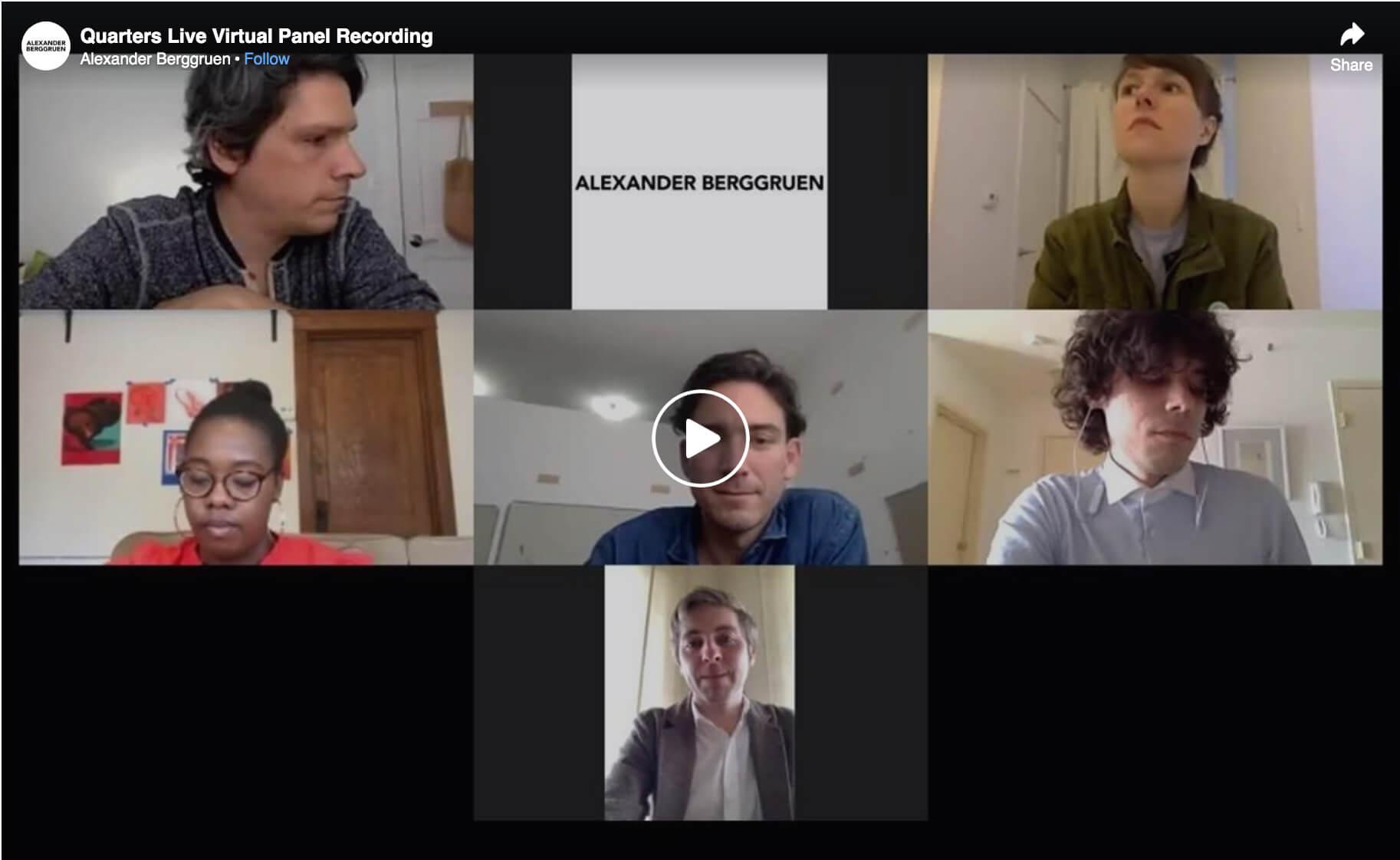 Still of Quarters: Anne Buckwatler, Dustin Hodges, JJ Manford, Brittney Leeanne Williams Panel