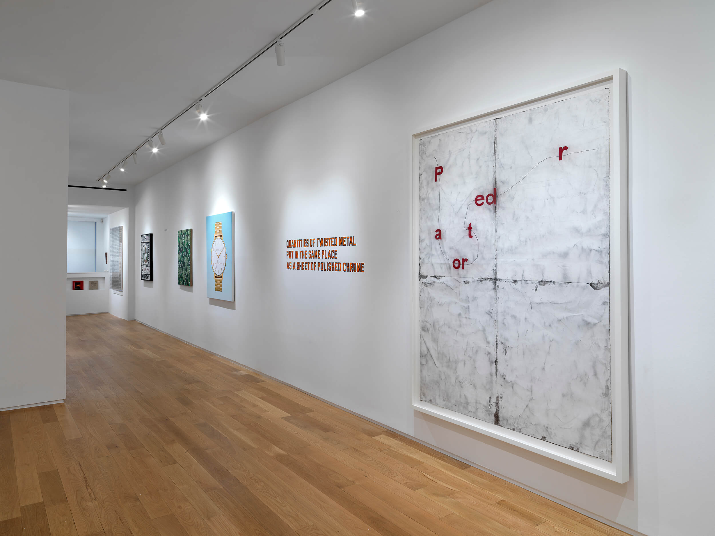 Installation Image of Words at Alexander Berggruen Gallery