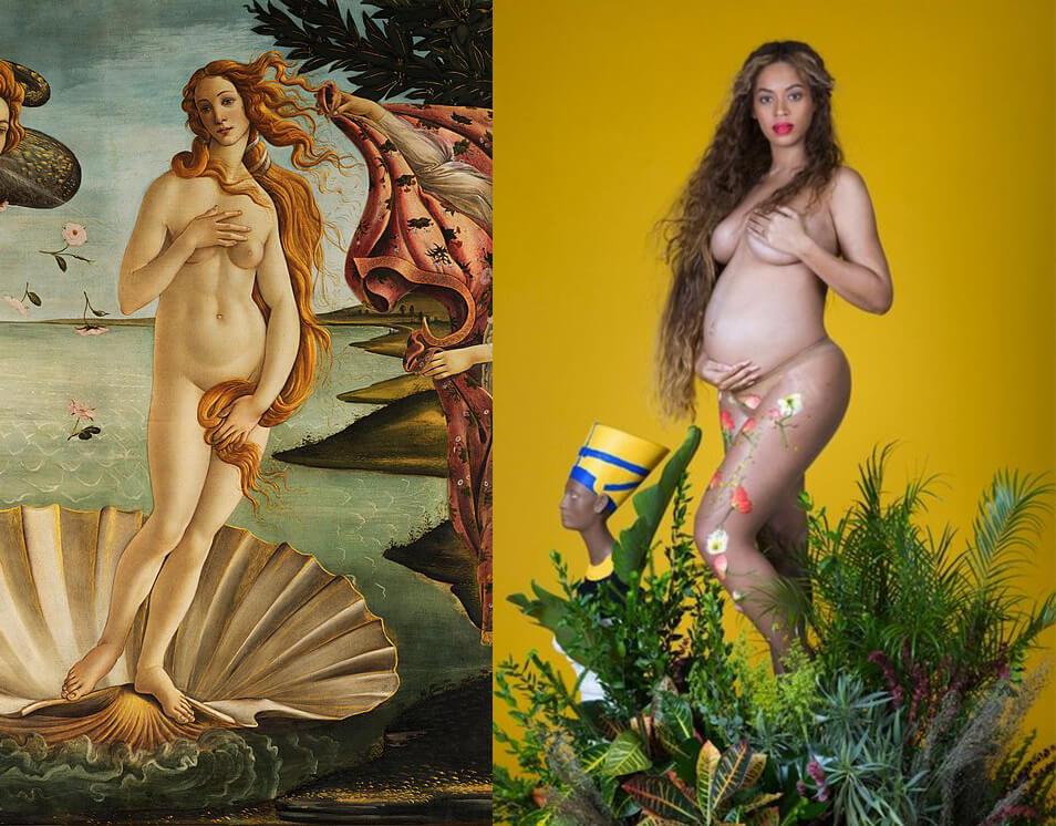 Beyonce-and-Birth-of-Venus