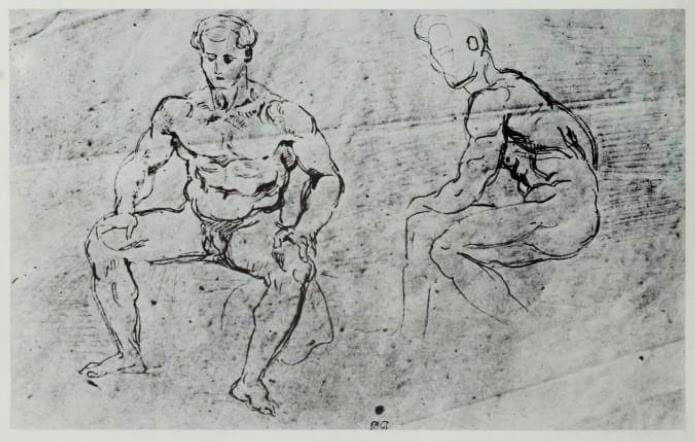 Eugene Delacroix study 1855