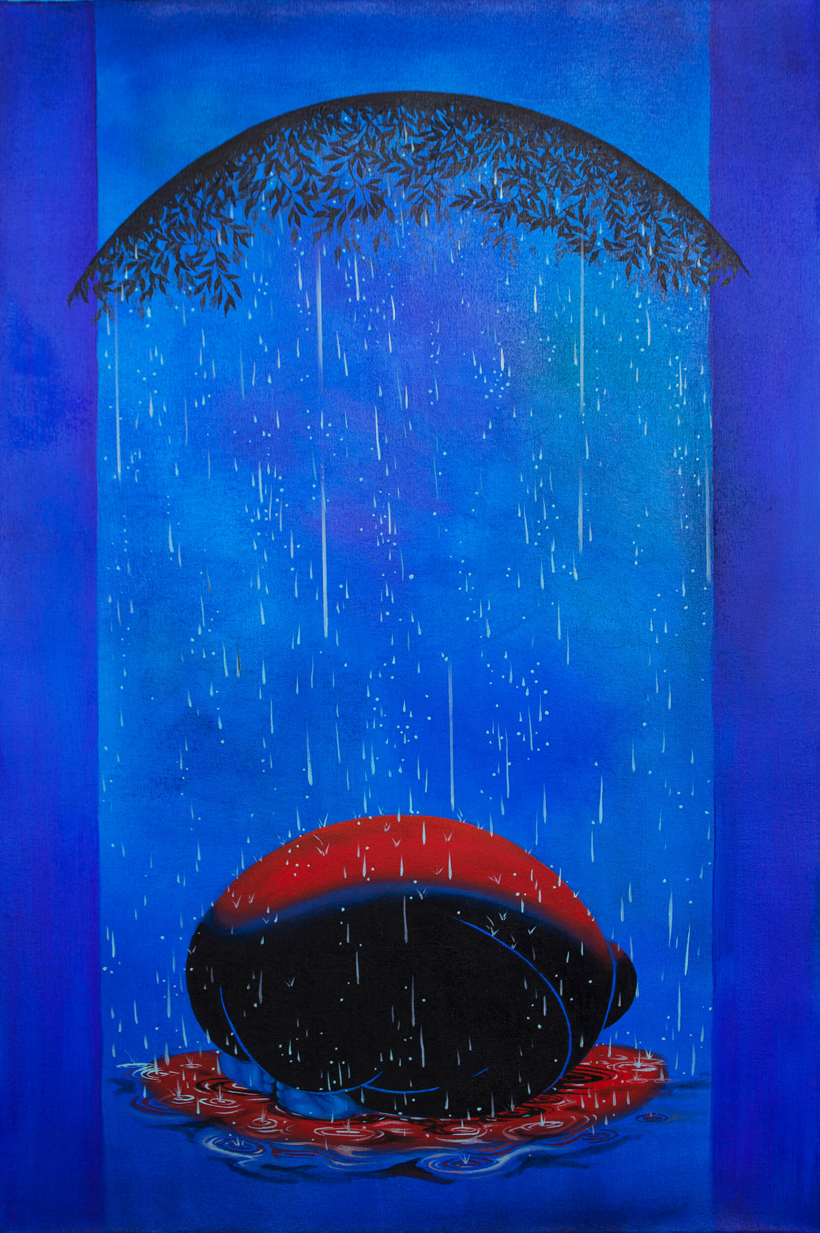 Brittney Leeanne Williams Rain 1, 2021 oil on canvas 36 x 24 in. (91.4 x 61 cm.)