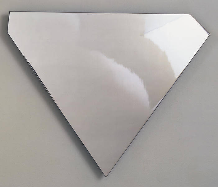Ellsworth Kelly Untitled, 1986 wall relief of polished stainless steel 30 x 24 3/4 x 3/8 in. (76.2 x 62.9 x 1 cm.) Edition of 9 plus 4 AC, 2 SP, P