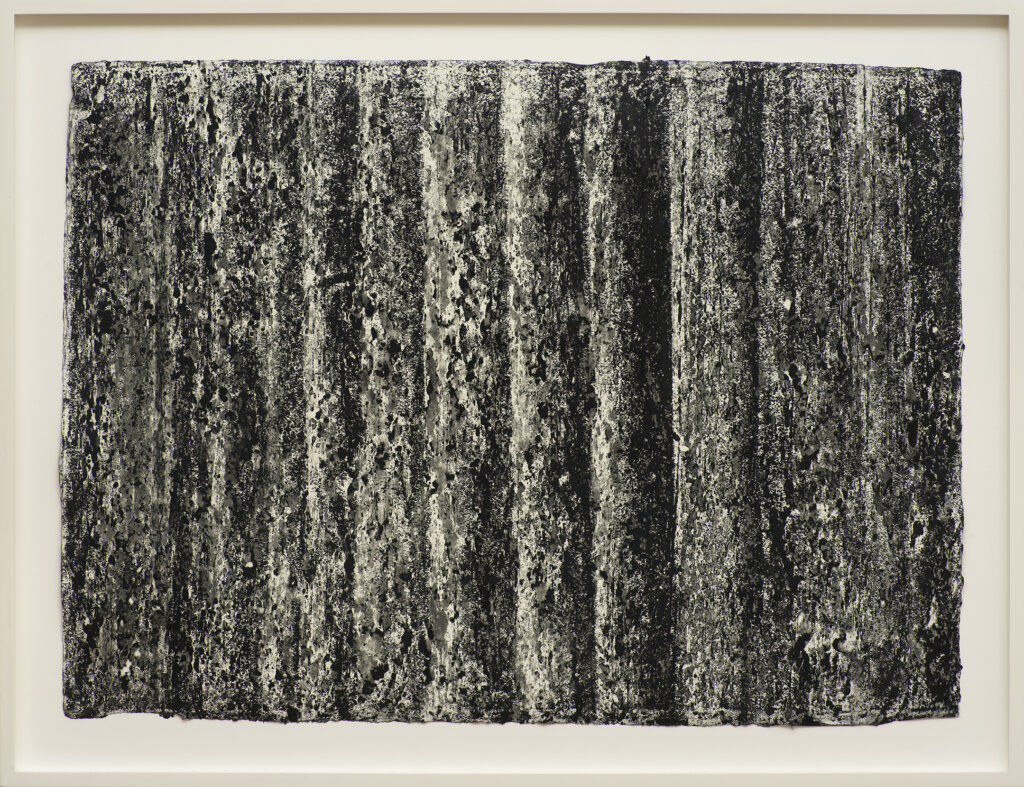 Richard Serra Ramble 3-9, 2015 litho crayon on paper 22 x 30 in. (55.9 x 76.2 cm.)