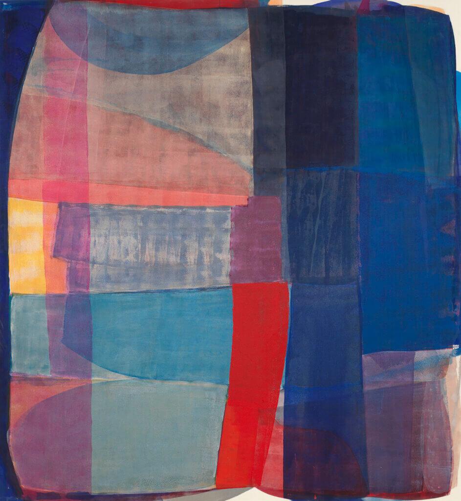 Anna Kunz The Blue Magnitude, 2021 acrylic on canvas 78 x 72 in. (198.1 x 182.9 cm.)