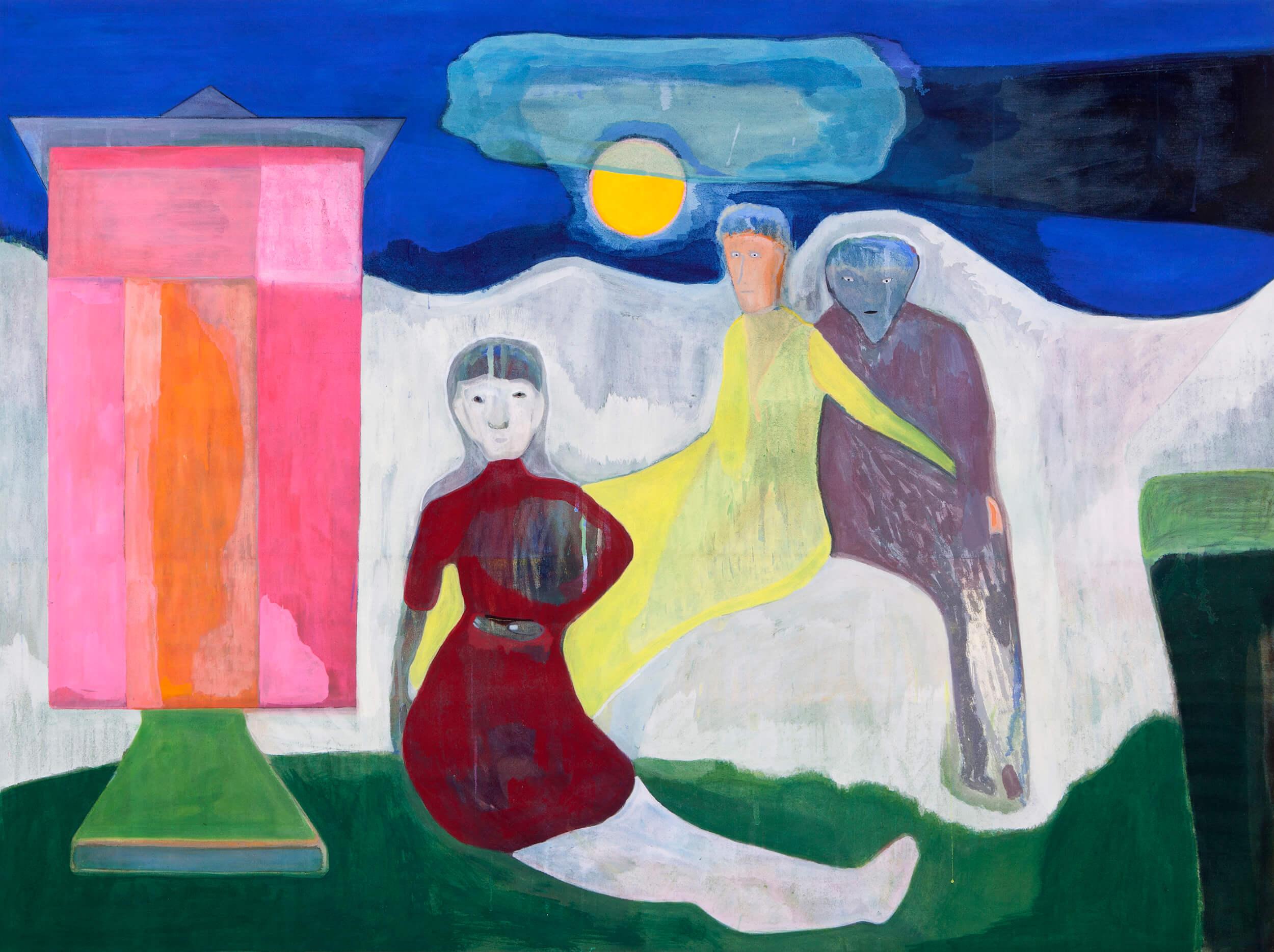 Vicente Matte Blue Night, 2021 distemper on canvas 47 1/4 x 63 in. (120 x 160 cm.)