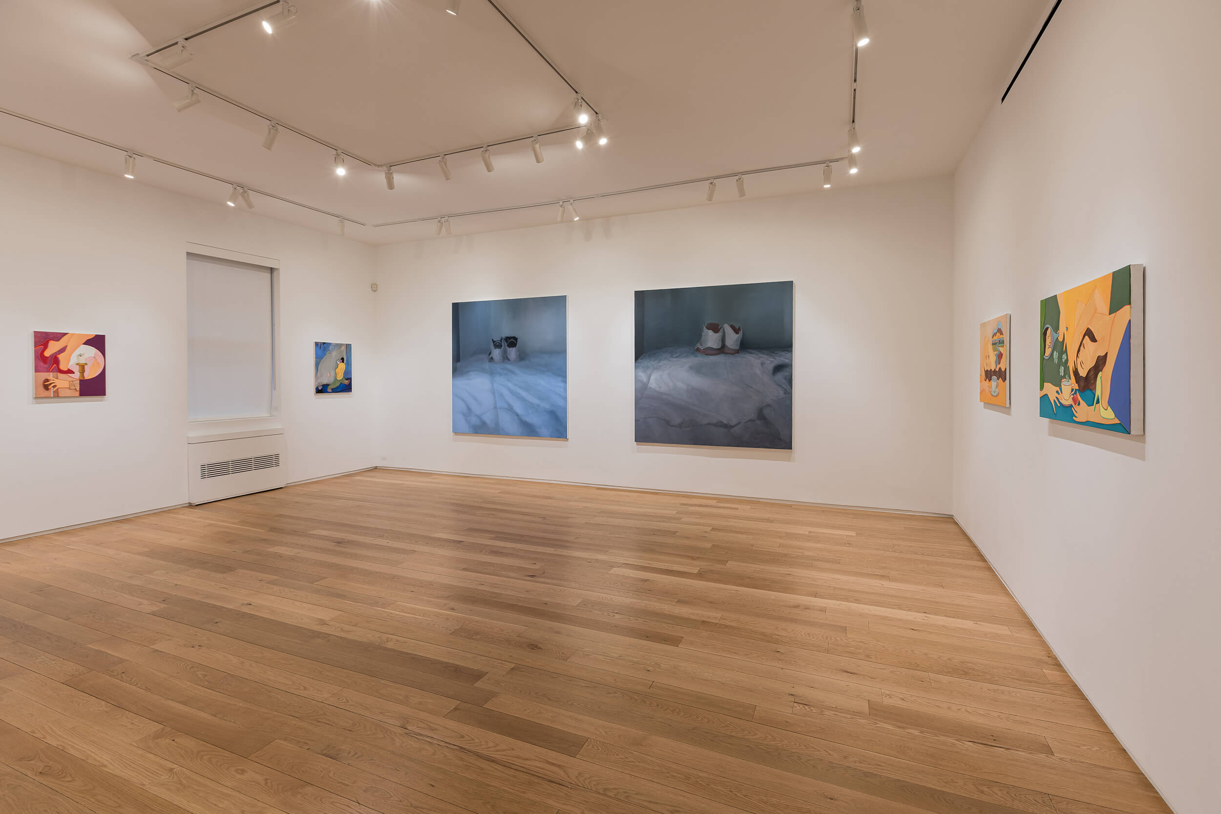 Installation view ofElana Bowsher, Vicente Matte, Gabriel Mills(June 2–July 14, 2021) at Alexander Berggruen, NY.