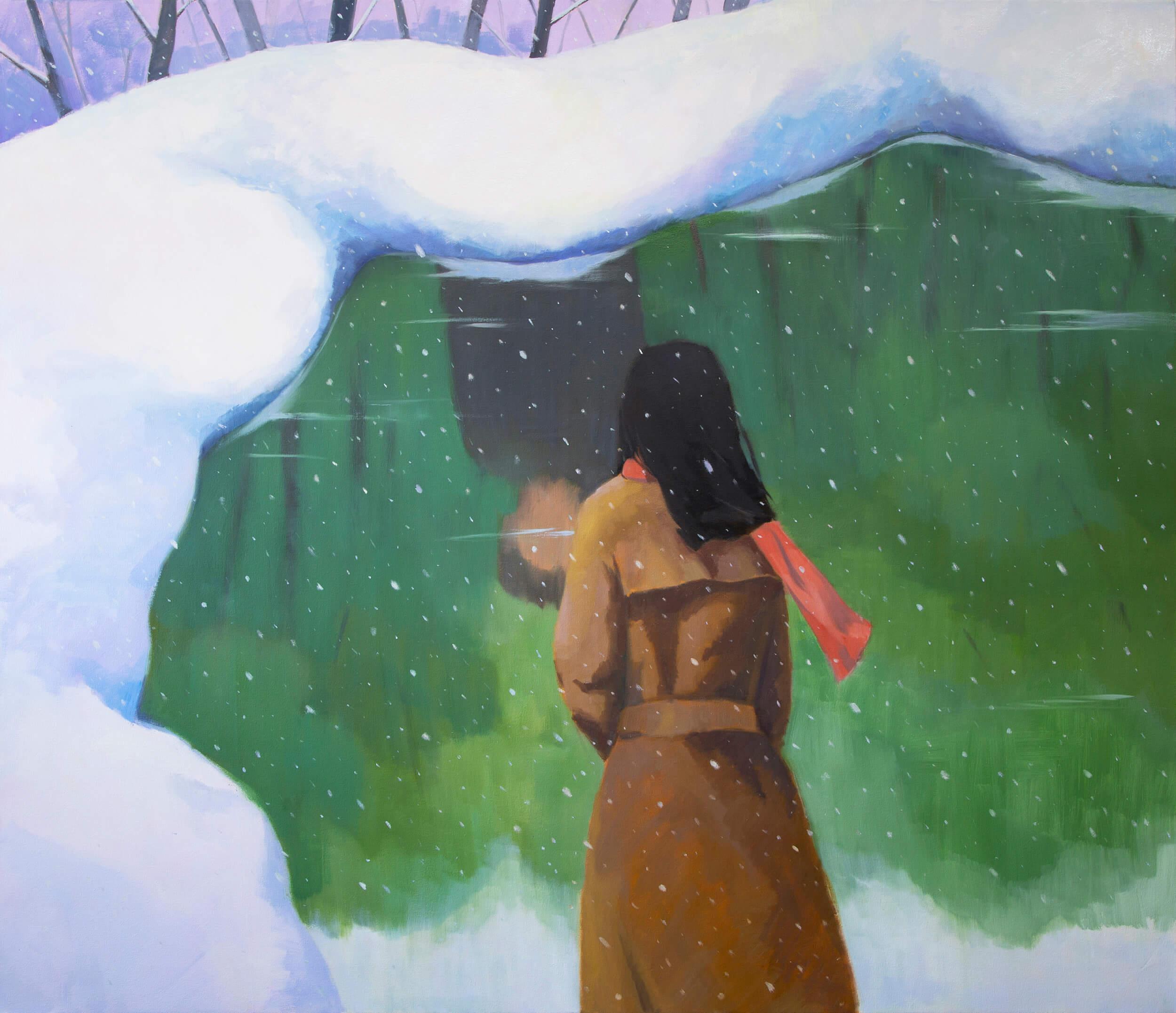 Yuri Yuan Norwegian Wood, 2020 oil on canvas 63 x 73 in. (160 x 185.4 cm.)