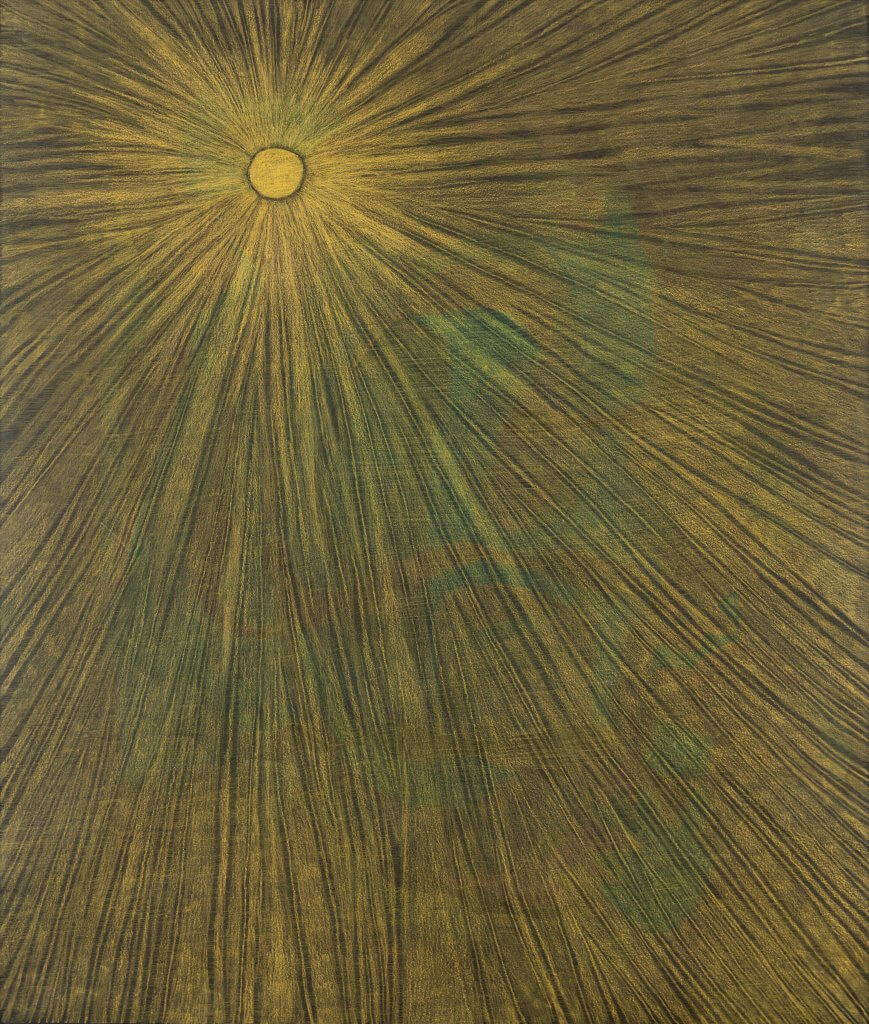 Angie Jennings Below the light, 2021 colored pencil on paper 50 x 42 in. (127 x 106.7 cm.)