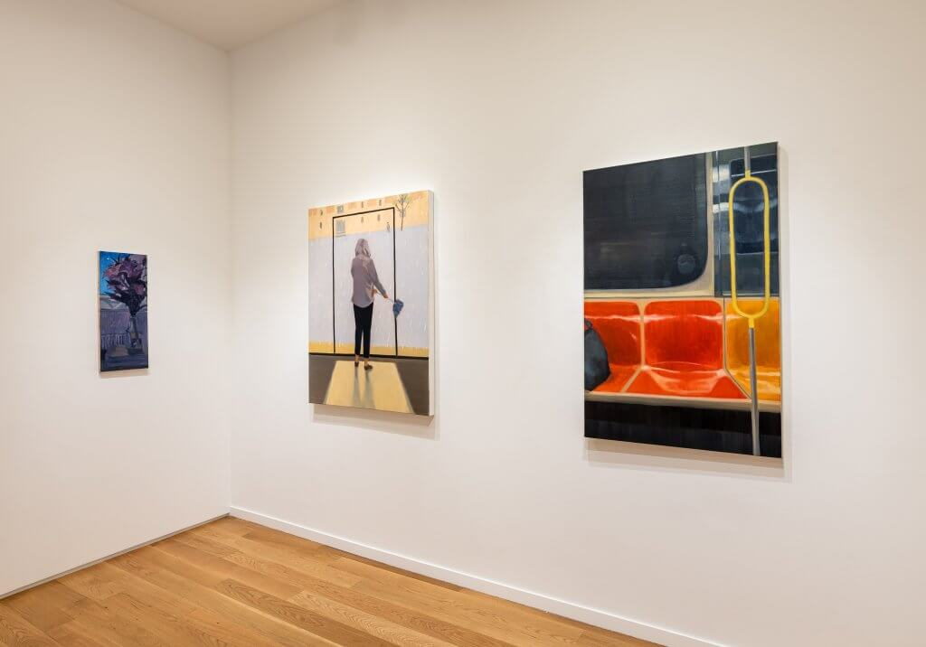 Installation view of Yuri Yuan: River Flows in You (July 21–August 31, 2021) at Alexander Berggruen, NY.