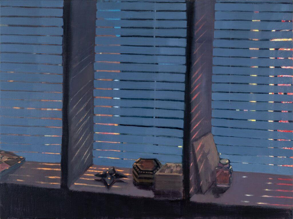Yuri Yuan City of Trauma, 2021 oil on canvas 30 x 40 in. (76.2 x 101.6 cm.)