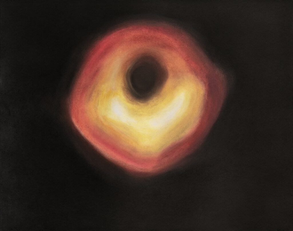 Angie Jennings Blackhole, 2021 chalk pastel on paper, framed 23 x 29 in. (58.4 x 73.7 cm.)