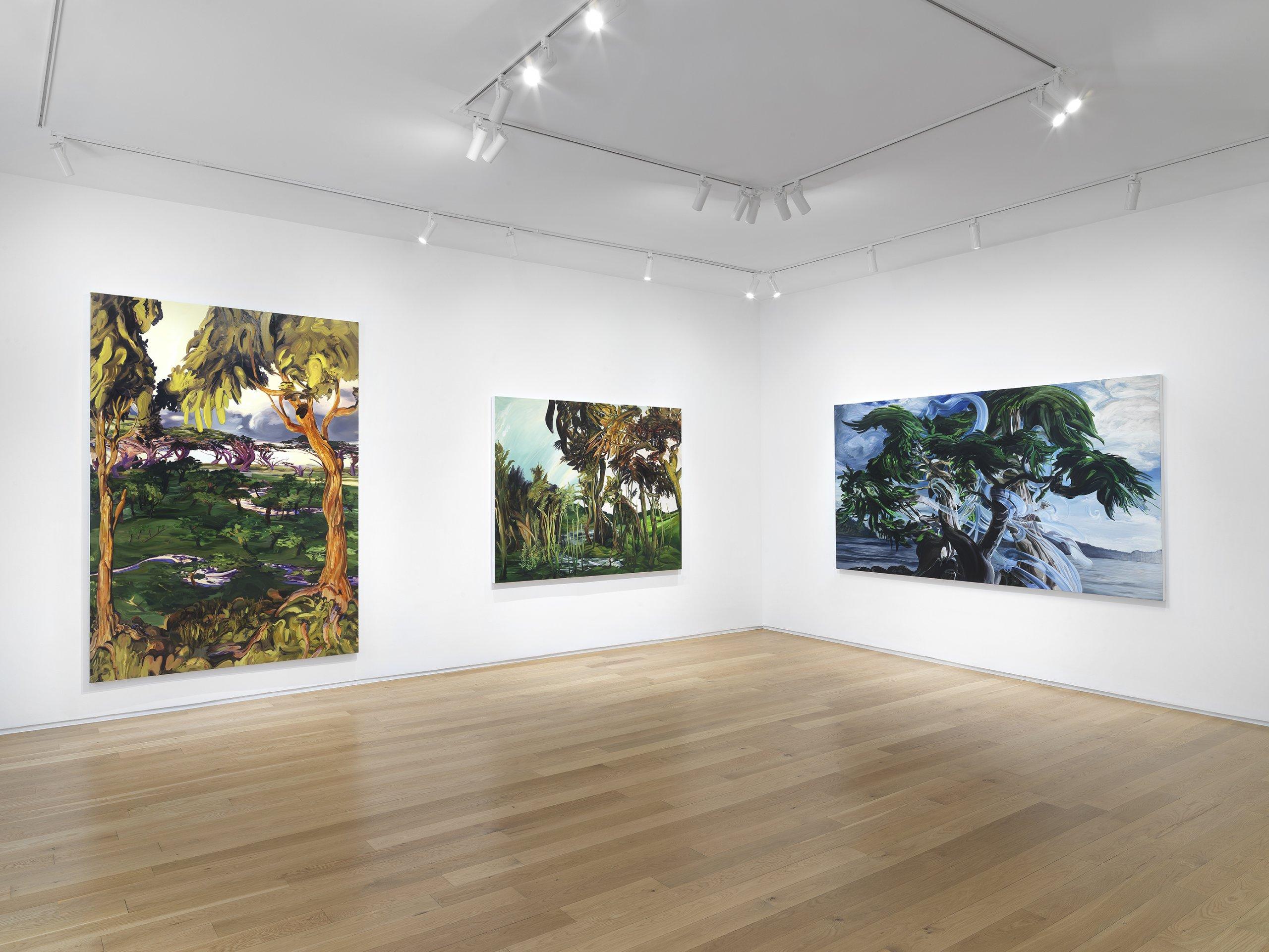 Installation view of Emma Webster: Green Iscariot (September 8-October 14, 2021) at Alexander Berggruen, NY. Photo: Dario Lasagni