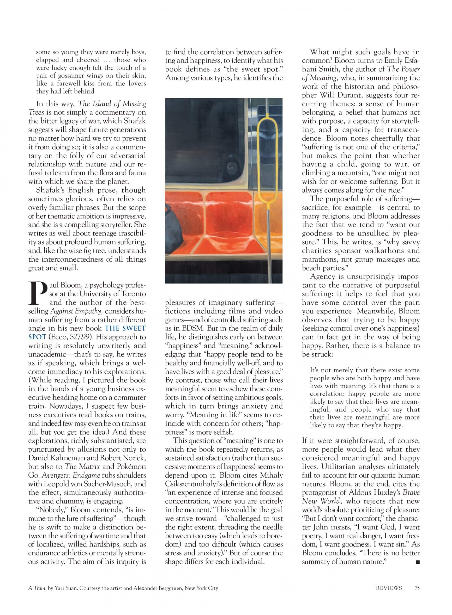 Yuri Yuan in Harper's Magazine November